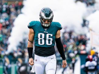 Zach Ertz walks off