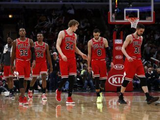 Chicago Bulls on court in 2020