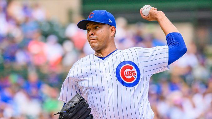 Jose Quintana pitches for Cubs