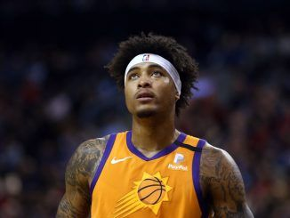 Kelly Oubre on court for the Suns