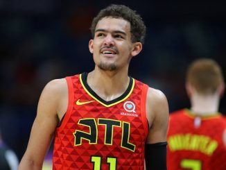 Trae Young of Hawks on court
