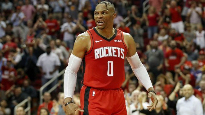 Russell Westbrook on court