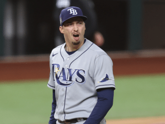 Blake Snell on mound