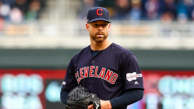 Corey Kluber on mound for Indians