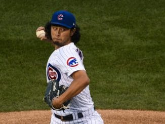 Yu Darvish on mound for Cubs