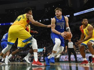 Giannis guards Doncic
