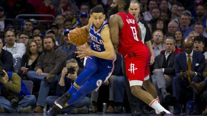 Harden guards Simmons