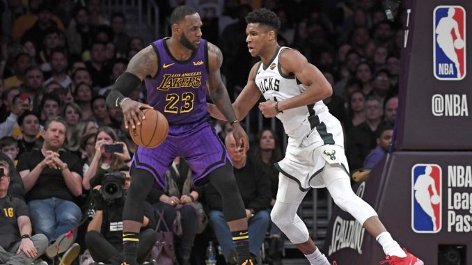 Giannis guards LeBron