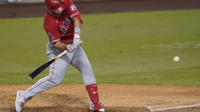 MIke Trout swing