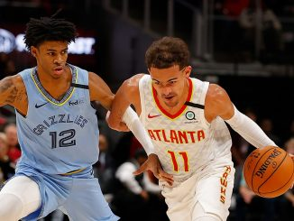 Ja Morant guards Trae Young